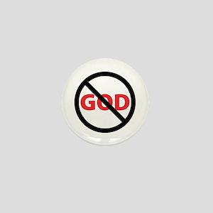 Circle Slash God Mini Button