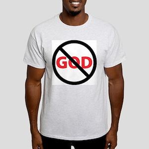 Circle Slash God Ash Grey T-Shirt