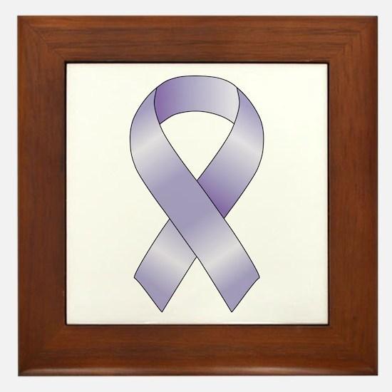 Lavender/Periwinkle Ribbon Framed Tile