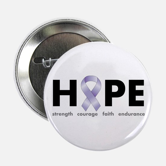 "Lavender/Periwinkle Ribbon Hope 2.25"" Button"