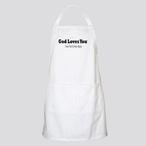 God Loves You BBQ Apron