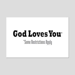 God Loves You Mini Poster Print