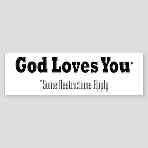 God Loves You Bumper Sticker