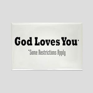 God Loves You Rectangle Magnet