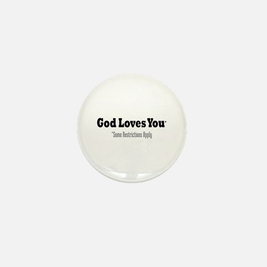God Loves You Mini Button