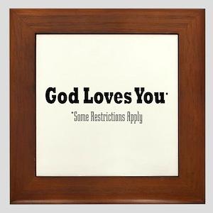 God Loves You Framed Tile