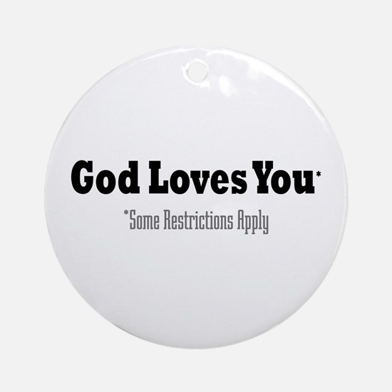 God Loves You Ornament (Round)