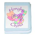 Honghu China Map baby blanket