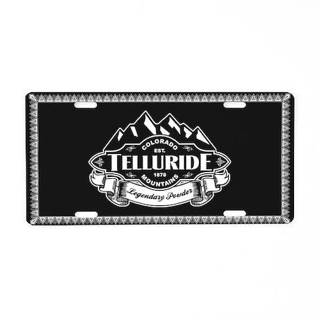 Telluride Mountain Emblem Aluminum License Plate
