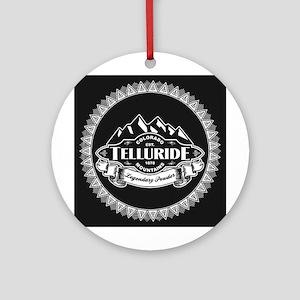 Telluride Mountain Emblem Ornament (Round)