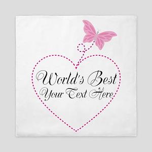 Personalized Worlds Best Queen Duvet