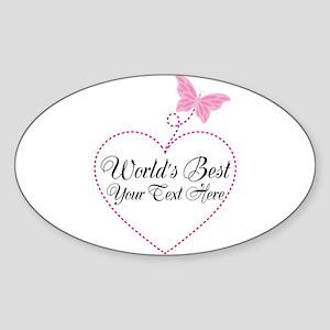 Personalized Worlds Best Sticker Oval
