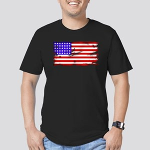 1864 US Flag Men's Fitted T-Shirt (dark)