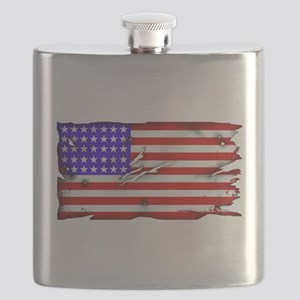 1864 US Flag Flask
