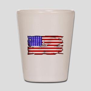 1864 US Flag Shot Glass