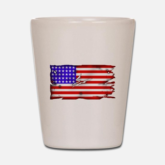1864 US Flag Shot Glass
