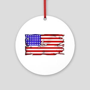 1864 US Flag Ornament (Round)