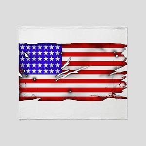 1864 US Flag Throw Blanket