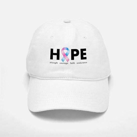 Pink & Blue Ribbon Hope Baseball Baseball Cap