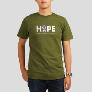 Pink & Blue Ribbon Hope Organic Men's T-Shirt (dar