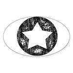 Distressed Vintage Star 1 Sticker (Oval 10 pk)