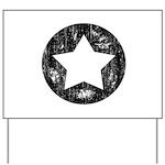 Distressed Vintage Star 1 Yard Sign