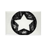 Distressed Vintage Star 1 Rectangle Magnet (10 pac