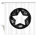 Distressed Vintage Star 1 Shower Curtain
