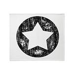 Distressed Vintage Star 1 Throw Blanket