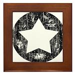 Distressed Vintage Star 1 Framed Tile