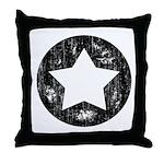 Distressed Vintage Star 1 Throw Pillow