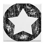 Distressed Vintage Star 1 Tile Coaster