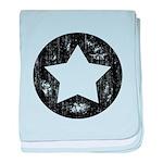 Distressed Vintage Star 1 baby blanket