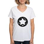 Distressed Vintage Star 1 Women's V-Neck T-Shirt