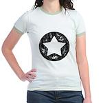 Distressed Vintage Star 1 Jr. Ringer T-Shirt