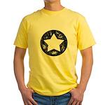 Distressed Vintage Star 1 Yellow T-Shirt