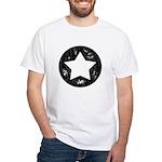 Distressed Vintage Star 1 White T-Shirt