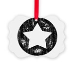 Distressed Vintage Star 1 Picture Ornament