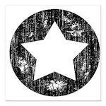 Distressed Vintage Star 1 Square Car Magnet 3
