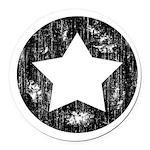 Distressed Vintage Star 1 Round Car Magnet
