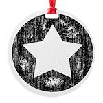 Distressed Vintage Star 1 Round Ornament