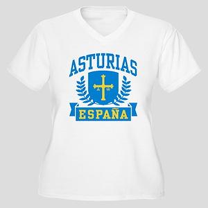 Asturias Espana Women's Plus Size V-Neck T-Shirt