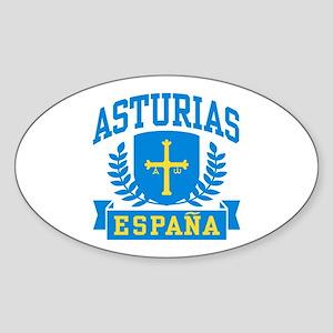 Asturias Espana Sticker (Oval)