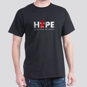 Red Ribbon Hope Dark T-Shirt