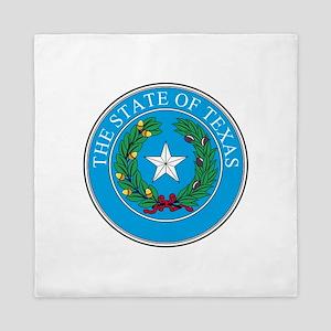 Texas State Seal Queen Duvet