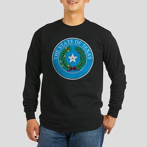 Texas State Seal Long Sleeve Dark T-Shirt