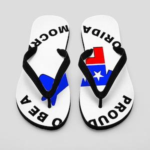 Florida Democrat Pride Flip Flops