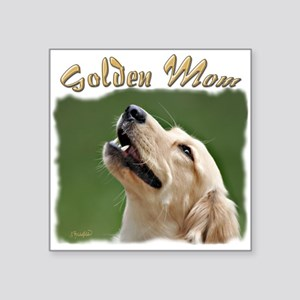 """Golden Mom Square Sticker 3"""" x 3"""""""