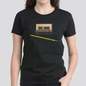 Cassette and Pencil Women's Dark T-Shirt