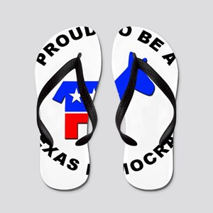 Texas Democrat Pride Flip Flops